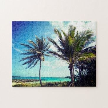 Beach Themed Bahamian Beach Jigsaw Puzzle