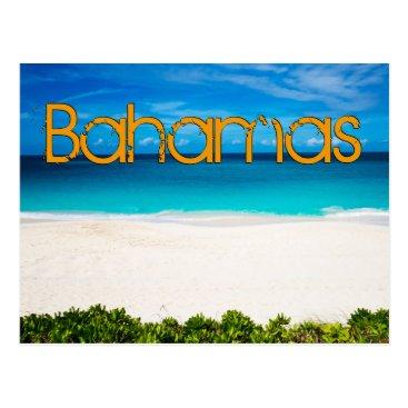 Beach Themed Bahamian Beach Postcard