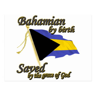 Bahamian by birth saved by the grace of God Postcard