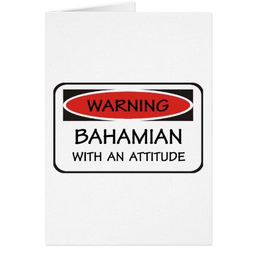 Bahamian de la actitud tarjeta