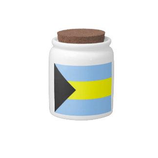 Bahamian Flag Candy Jars