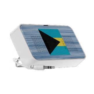 Bahamian Flag Floating on water Notebook Speakers
