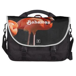 Bahamian Flamingo Laptop Bag