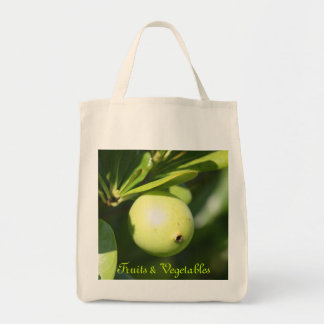 Bahamian Fruit Grocery Tote Canvas Bag