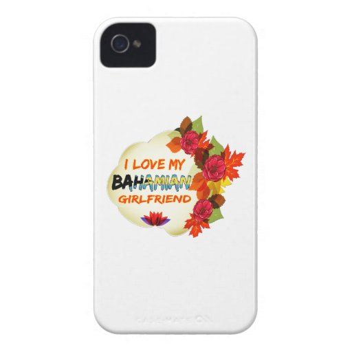 Bahamian Girlfriend designs Case-Mate iPhone 4 Cases