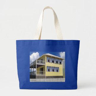 Bahamian House Jumbo Tote Bag