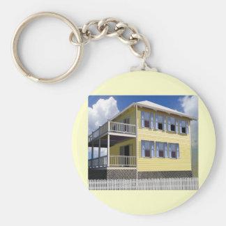 Bahamian House Basic Round Button Keychain