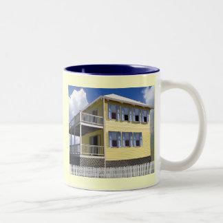 Bahamian House Two-Tone Coffee Mug