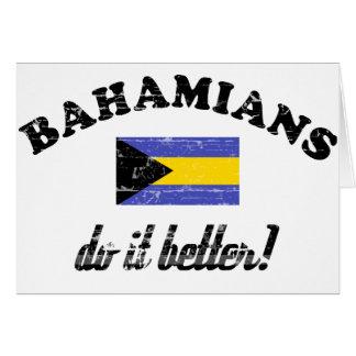 Bahamian mejora tarjeta de felicitación