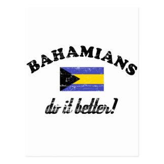 Bahamian mejora tarjeta postal