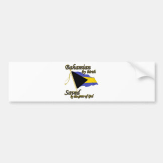 Bahamian por el nacimiento ahorrado por la gracia  pegatina de parachoque