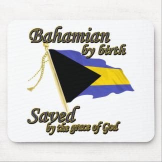 Bahamian por el nacimiento ahorrado por la gracia  mouse pads