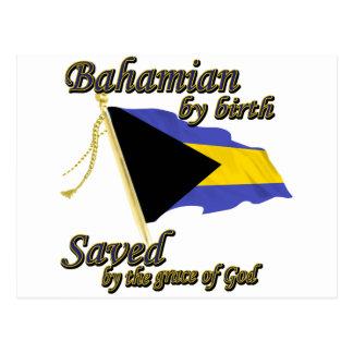Bahamian por el nacimiento ahorrado por la gracia tarjetas postales
