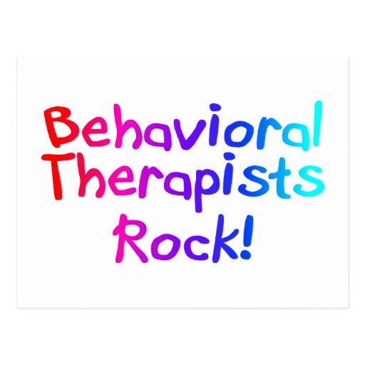 Bahaviorial Therapists Rock Postcard