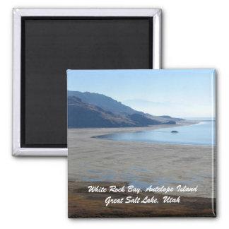 Bahía blanca de la roca, isla del antílope grande… imán cuadrado