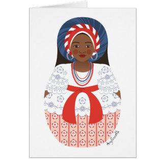 Bahia Brazilian Matryoshka Card