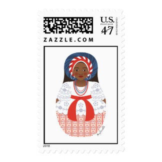 Bahia Brazilian Matryoshka Stamps