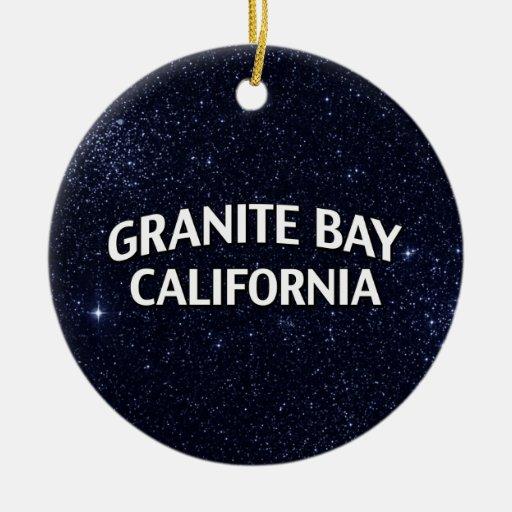 Bahía California del granito Adorno Navideño Redondo De Cerámica