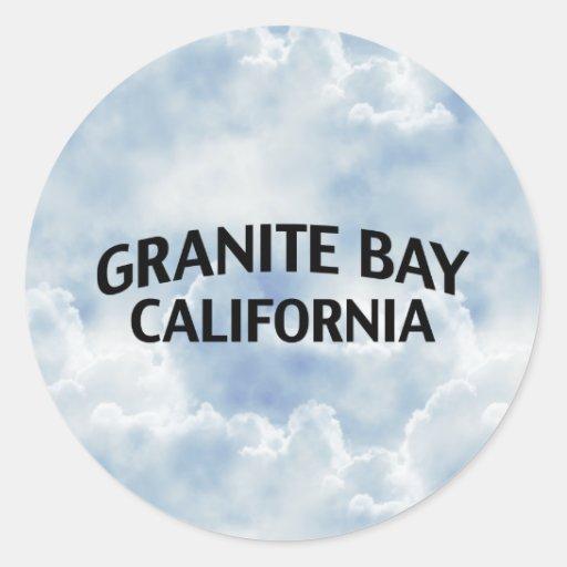 Bahía California del granito Etiquetas Redondas