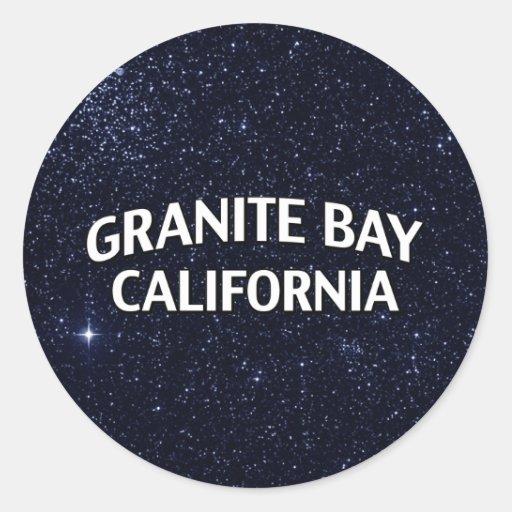 Bahía California del granito Pegatinas Redondas
