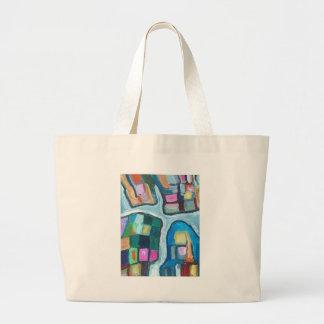 Bahía celular colorida (expresionismo abstracto) bolsas