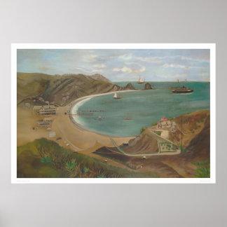 Bahía de Avalon, isla de Santa Catalina (1212) Póster