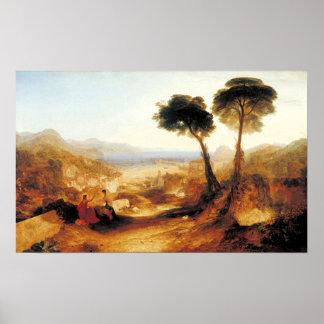 Bahía de Baiae con Apolo y la sibila Póster