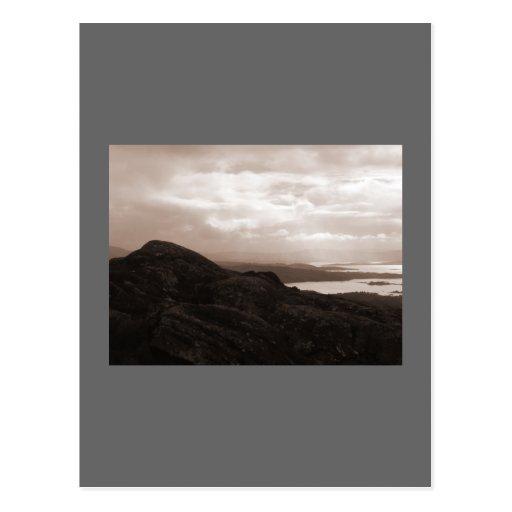 Bahía de Bantry, camino Irlanda del túnel. Colores Tarjetas Postales