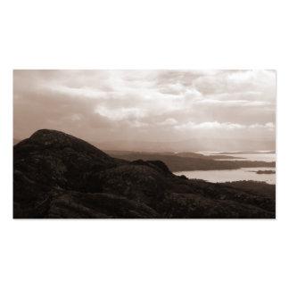 Bahía de Bantry, camino Irlanda del túnel. Colores Tarjetas De Visita