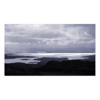 Bahía de Bantry del camino Irlanda del túnel. Azul Tarjetas De Visita