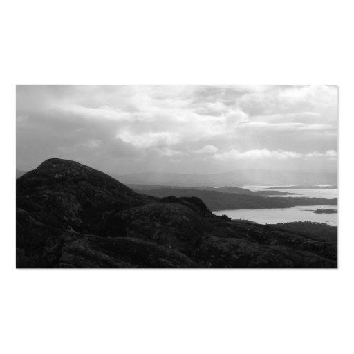 Bahía de Bantry del camino Irlanda del túnel Plantillas De Tarjetas De Visita