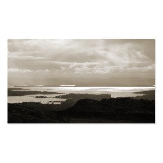 Bahía de Bantry del camino Irlanda del túnel. Tarjetas De Visita