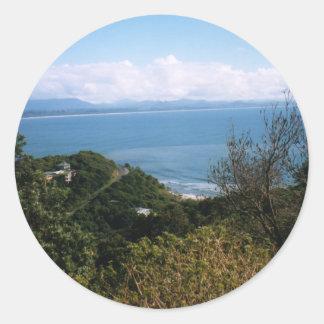 Bahía de Byron Pegatina Redonda