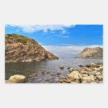 Bahía de Calafico - isla de San Pedro Pegatina Rectangular