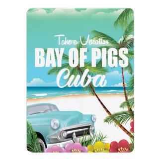 """Bahía de cerdos, poster de las vacaciones de la invitación 6.5"""" x 8.75"""""""
