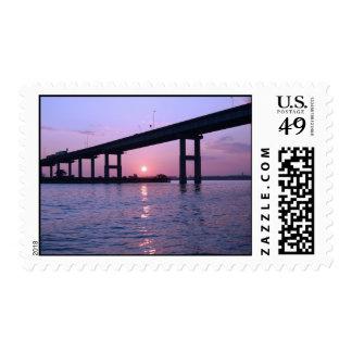 Bahía de Chesapeake en la salida del sol Sello Postal