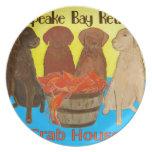 Bahía de Chesapeake Retriver Crabhouse Plato De Comida