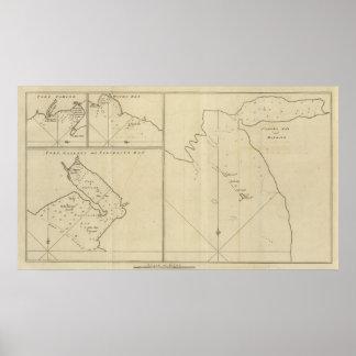 Bahía de Cordes, hambre del puerto, paga de madera Póster