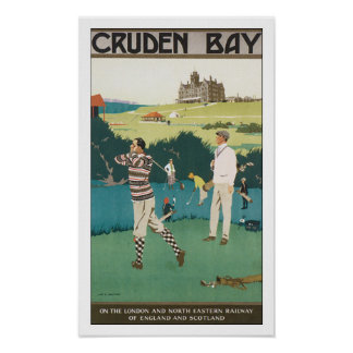 Bahía de Cruden del viaje del vintage que juega a Impresiones