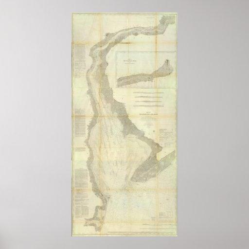Bahía de Delaware compuesta, río Póster