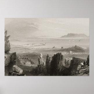 Bahía de Dublín de las minas de Kingstown Póster