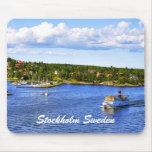 Bahía de Estocolmo Alfombrillas De Ratón