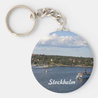 Bahía de Estocolmo Suecia Llavero Redondo Tipo Pin