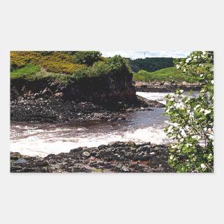 Bahía de Fundy Pegatina Rectangular
