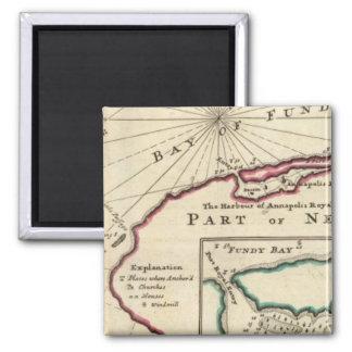 Bahía de Fundy y puerto de Annapolis real Imán Cuadrado