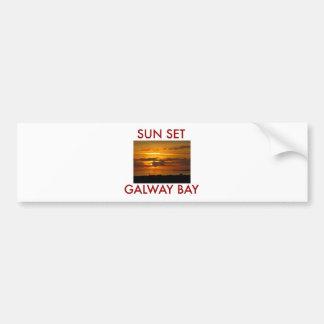 Bahía de Galway de la puesta del sol Pegatina Para Auto