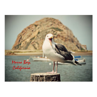 Bahía de griterío de Morro de la gaviota Californ Postal