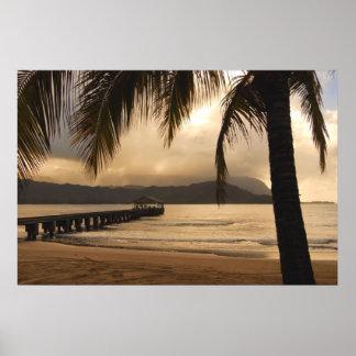 Bahía de Hanalei - Kauai, Hawaii Poster