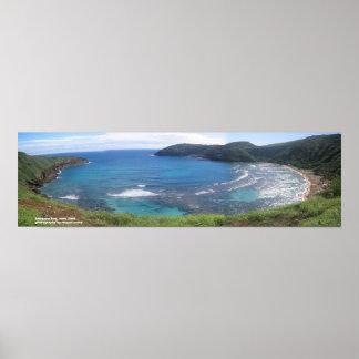 Bahía de Hanauma Oahu Poster