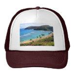 Bahía de Hanauma, opinión de Honolulu, Oahu, Hawai Gorros
